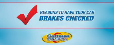 reasons to have your cars brakes checked