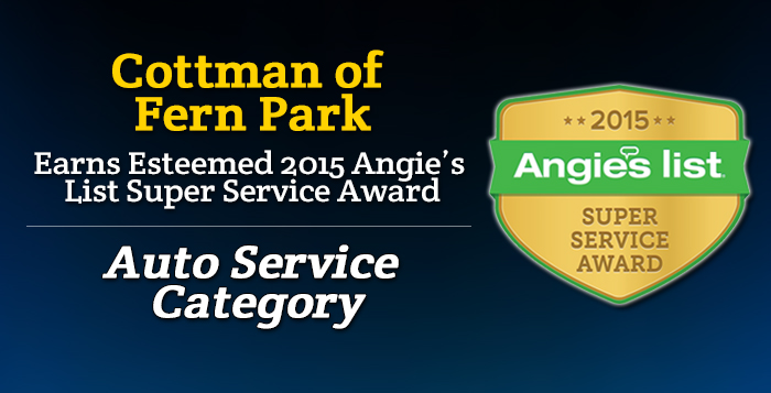 Cottman of Fern Park FL - 2015 Angie's List Super Service Award