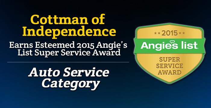 Cottman of Independence - Angie's List Super Service Award 2015 Winner