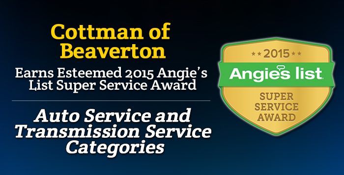 Cottman of Beaverton, OR - Angie's List Super Service Award 2015 Winners