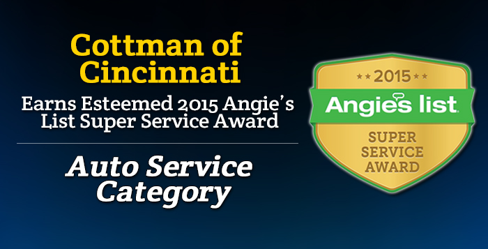 Cottman of Cincinnati, OH - Angie's List Super Service 2015 Award Winner