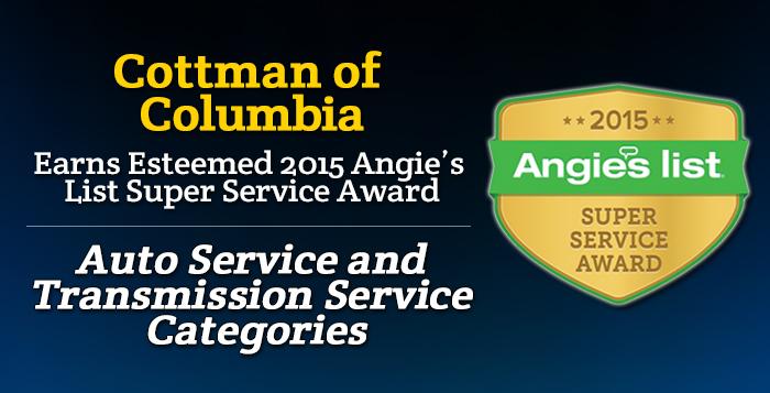 Cottman of Columbia, SC - Angie's List Super Service Award 2015 Winner